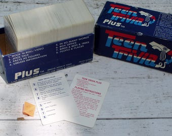 Teen Trivia Plus, Boxed Trivia Quiz Game, 1984