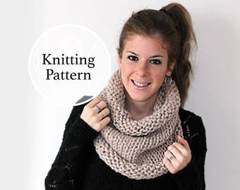 Knitting Pattern Urbana Cowl Instant Download