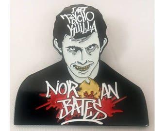 Ol' Dirty Norman enamel pin old school horror hip-hop