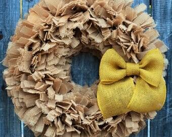 Spring Burlap Wreath, Rustic Spring Wreath, Spring Decor, Summer Wreath, Easter Burlap Wreath, Rustic Easter Decor, Summer Decorations