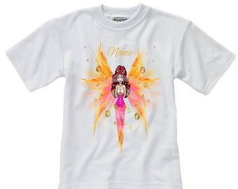 Personalised T-Shirt - Fairy - Name - Style 14
