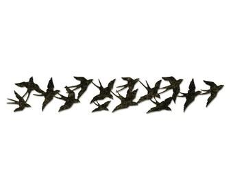 "Tim Holtz Alterations Strip Die - BIRDS IN FLIGHT by Sizzix 659425 1 pc  2 3/8"" x 12 5/8""  1.cc01"