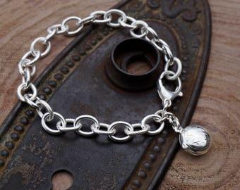 Locket Bracelet / Sterling Silver Locket / Silver Locket Bracelet / Silver Bracelet with Locket / Silver Locket / Bracelet with Locket