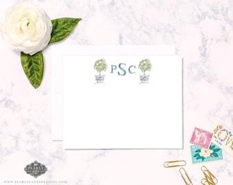 Lemon Stationery, Lemon Tree Stationary, Personalized Stationery, Personalized Gift, Watercolor Stationery,  Mother's Day Gift, Lemon Art