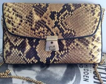 Vintage Python Skin Handbag