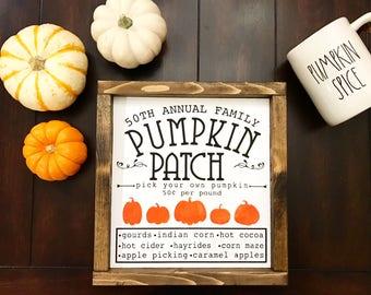 Pumpkin Patch / Farmhouse style / Rustic / Thanksgiving / Fall Decor / Halloween / Modern Farm Decor