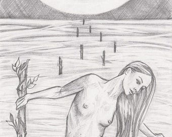 See You in The Shallows, Original pencil drawing