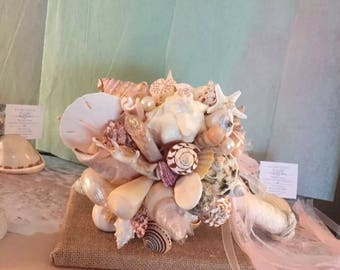 Xo bouquets sand dollar starfish beach bouquet 23 inch ready to ship