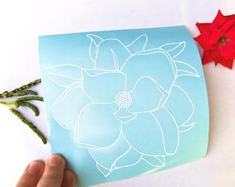 Magnolia Flower Vinyl Decal