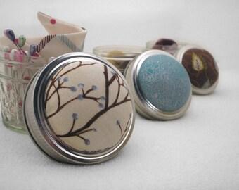 Pin Sharpening Pincushion, Pin Cushion, Pincushion, Mason Jar Cushion, Emery Pincushion, Gifts for Quilters, Gifts for Sewers, Shower Gift