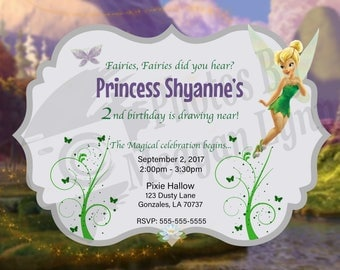 Tinkerbell Birthday Invitation *DIGITAL*