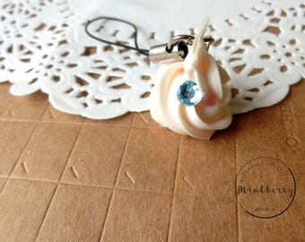 Whipped Cream Cell Phone Charm Pastel Pink