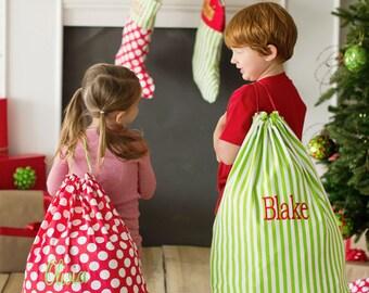 Personalized Santa Sack, canvas santa sack, santa sack, christmas bag, santa bag, canvas santa bag, monogrammed present sack, gift sack