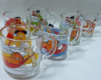 McDonalds Garfield Mugs