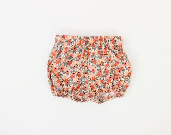 Cotton Bloomers in Rosa Peach Floral