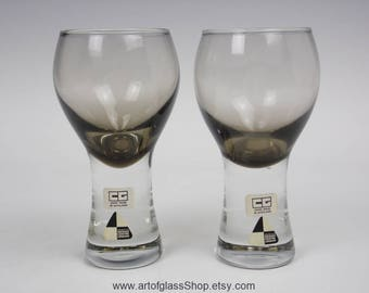 Pair of Caithness Glass 'Canisbay' glasses
