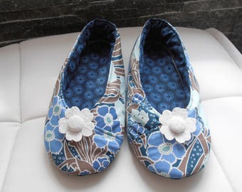 KIMONO floral blue T35 girl BOOTIES