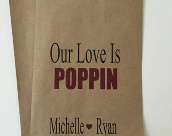 ON SALE Popcorn Wedding Candy Favor Bags, Candy Buffet Bags, Popcorn Bags, Candy Bags, Wedding Favors