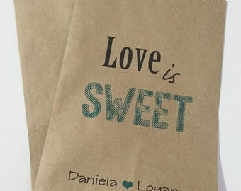 ON SALE Candy Buffet Bags, Wedding Candy Bags. Candy Bar Bags
