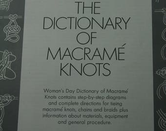 The Dictionary of Macrame Knots, Creative Craft, Cord, Cording, Knots, Crafting, Craft,   A-165
