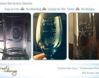 Silk Screen Stencil Reusable Glass Etching Stencil  - Quick Overview - Reusable Stencils - No Bridges - Bridge-Free Stencils