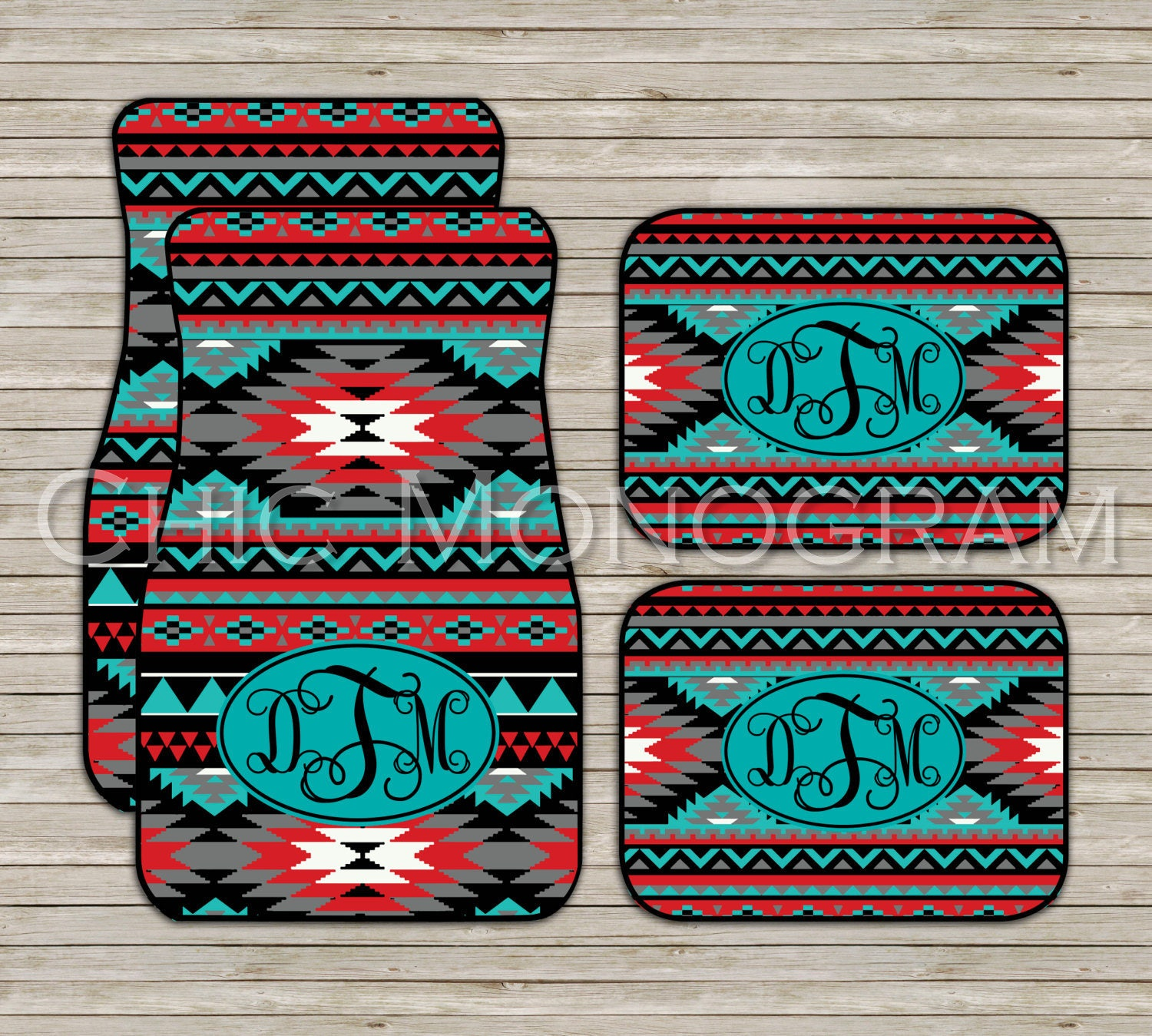 Aztec Tribal Car Mats Aztec Carmats Personalized Custom