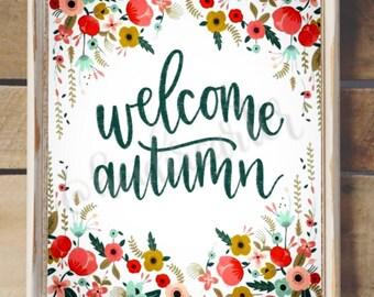 Welcome Autumn Printable