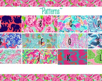 Lilly Inspired Lanyard/ID Badges. YOU PICK Design