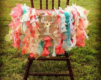 Wispy Curls Woodland High Chair Banner