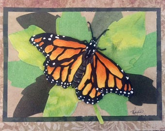 Monarch Original Cut Paper Art