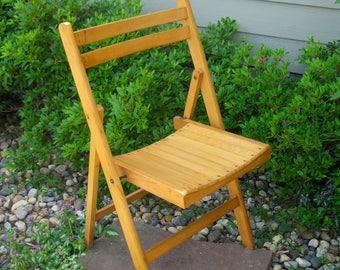 wood folding chair wood slat chair sturdy school chair church rustic