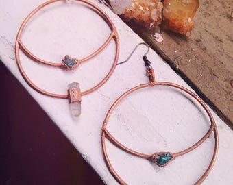 Aquarius Moon Hoop Earrings