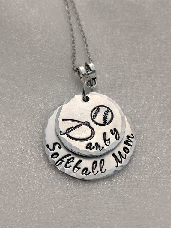 Sports Mom Necklace - Layered Necklace - Sport Jewelry - Personalized Sport Necklace - Softball Mom - Baseball Mom - Football Mom - Swim Mom