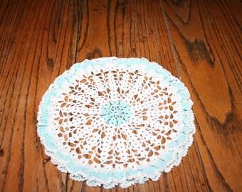 Vintage Crocheted Doily, Ruffled Edges