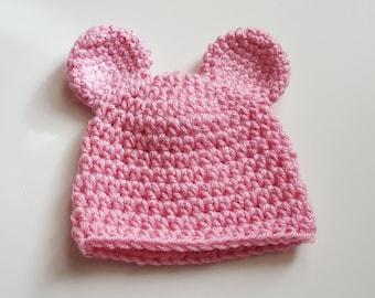 Preemie Bear Hat/Preemie Bear Beanie/Ready to Ship