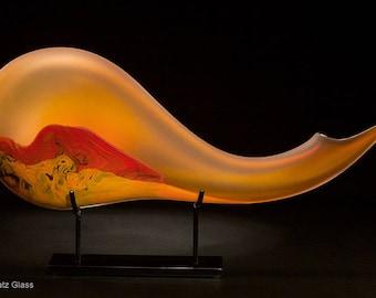 SALE! Contemporary art glass Montara Sculpture