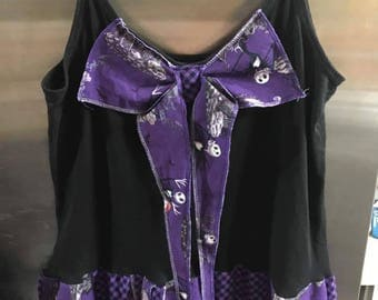 Upcycled NIGHTMARE BEFORE CHRISTMAS themed dress size xl