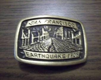 VIntage belt buckle---San Francisco Earthquake 1906