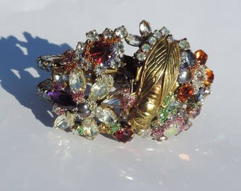 """Chic bracelet Victorian steampunk bracelet. """"Sonata of Provence"""" unique Piece"""