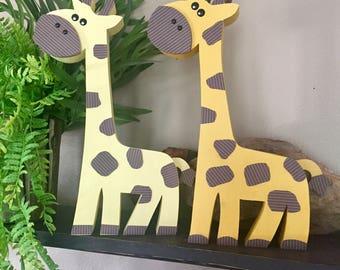 Wooden Jungle Buddies 2 (Giraffes) - Jungle Animals, Safari Animals, Wood Animals, Nursery/Kid Decor, Baby Jungle Animals, Jungle Decor