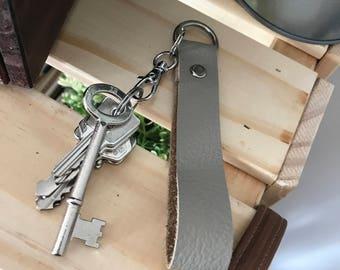 Cow hide key chain