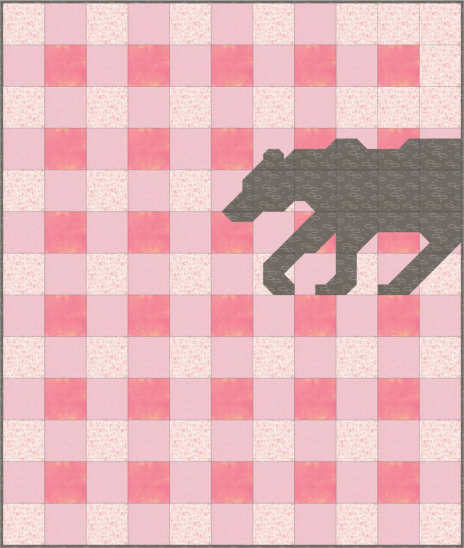 Buffalo Plaid Bear Quilt Pattern Pdf Instant Download Modern