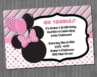 FLASH SALE Minnie Mouse Birthday Invitations