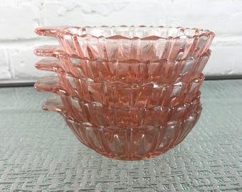 Hocking Glass Co Fortune One Handled Dessert or Berry Bowls