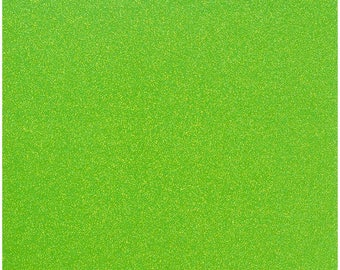 12x12 American Crafts Glitter Cardstock - Neon Green