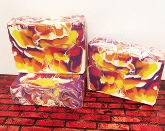 XOXO Scented Soap, Handmade Soap, Cold Process Soap, Bar Soap, Artisan Soap