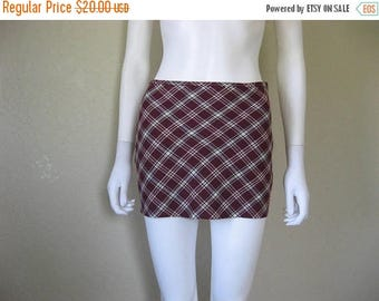 ON SALE Plaid Micro Mini Skirt