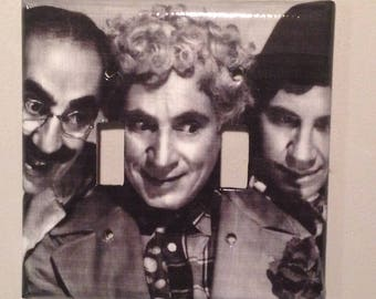 light switch cover plate (dual toggle): The Marx Brothers