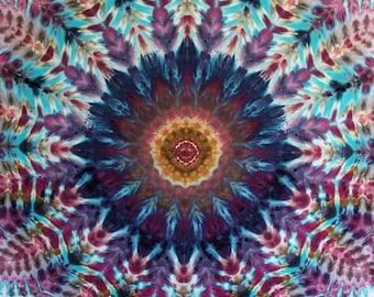 "Tie Dye Mandala Tapestry, 57""x46""!"