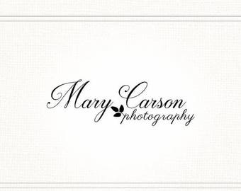 SALE Classic Premade Photography Watermark + Logo - L040
